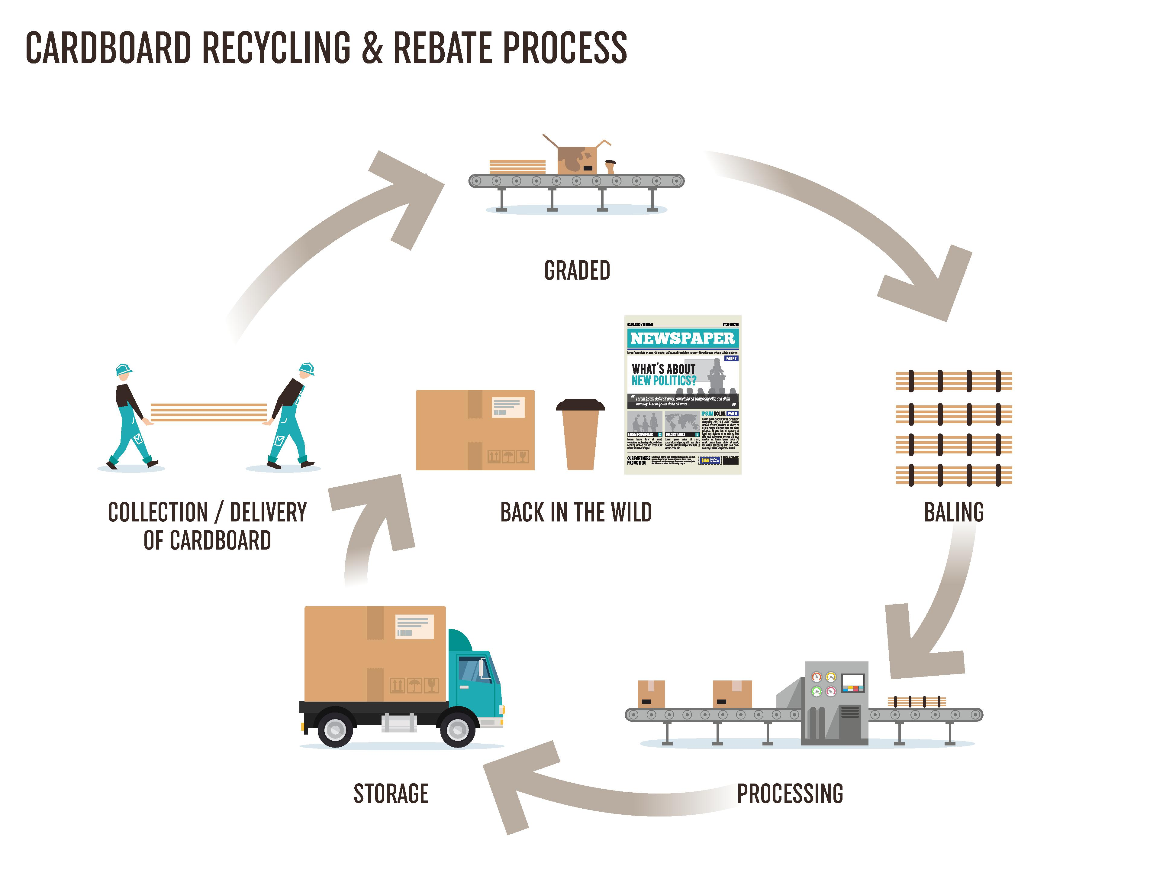 Cardboard Recycling Process
