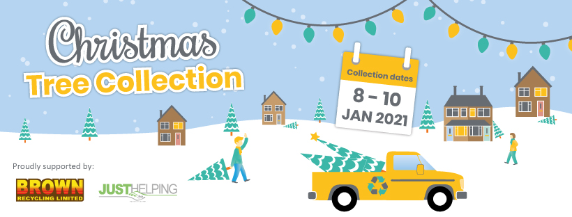 Christmas tree recycling & collection service from Brown Recycling & Dougie Mac in Stoke-on-Trent